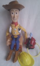 Rare Disney Talking 'Fire Fightin Woody' Cowboy & Accessories